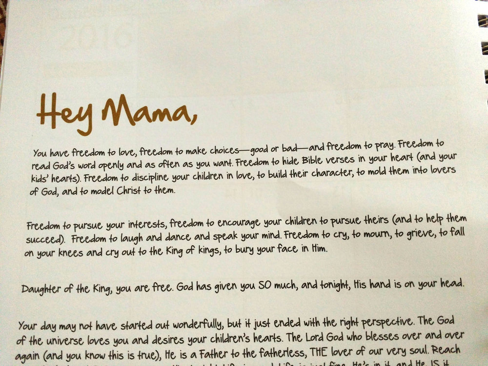 hey mama letter
