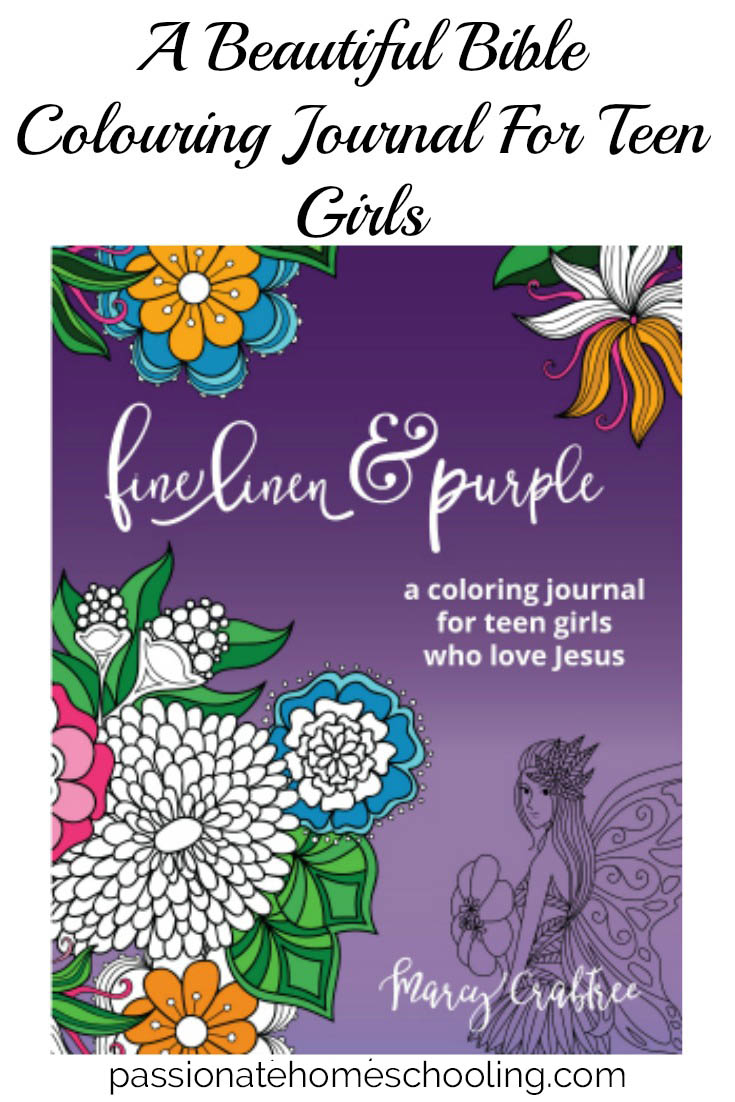 Coloring Journal. Fine Linen & Purple is a beautiful bible study journal and colouring book for teenage girls!