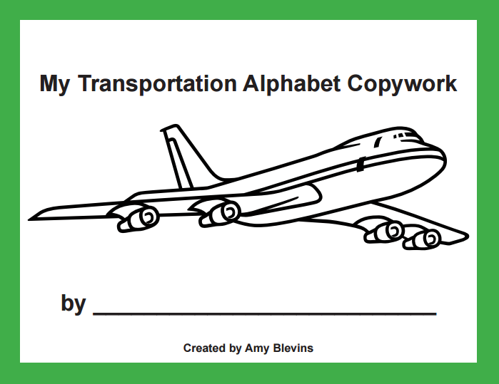 Transportation Copywork