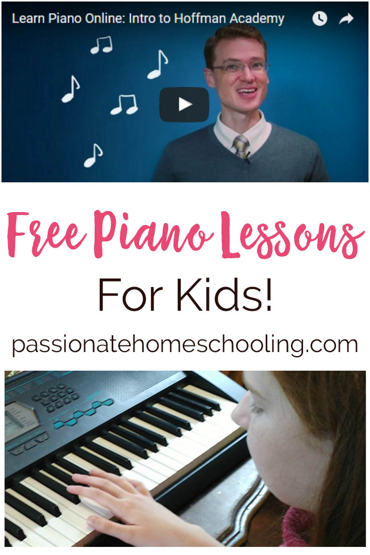 Free Piano Lessons. Would your children like to learn how to play the piano? Hoffman Academy has an amazing collection of FREE piano lessons! What a wonderful resource for homeschoolers or anyone wanting to learn how to play.