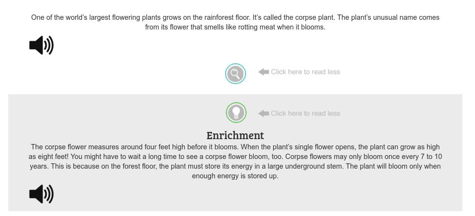 Rainforest Journey Lesson Text
