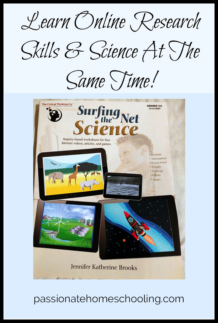 Surfing the Net Science have fun learning online research skills & science.
