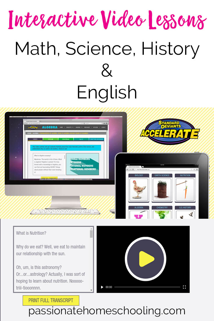 Online Homeschool High School Courses. Standard Deviants Accelerate offers high quality interactive video courses for homeschoolers.
