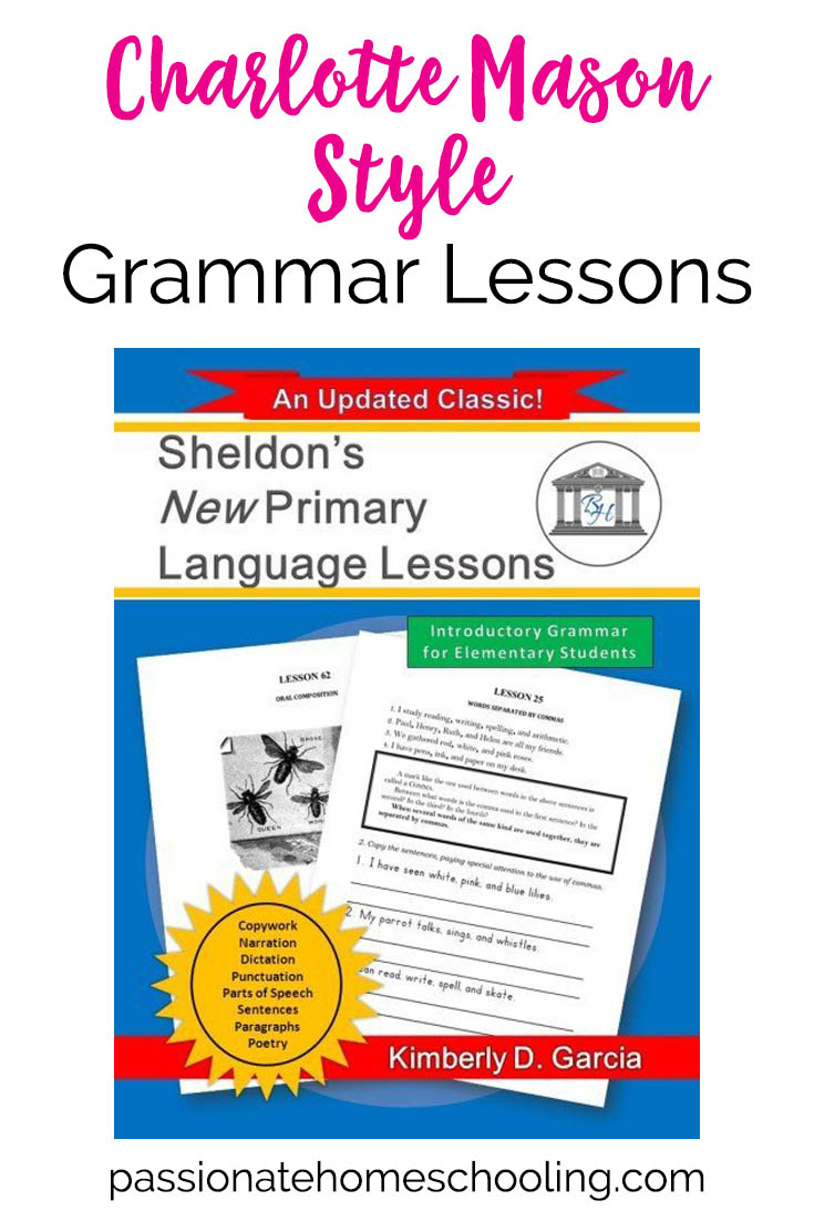 Charlotte Mason Style Language Lessons Sheldon's Primary Language Lessons