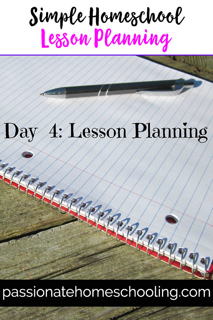 Simple Homeschool Lesson Planning