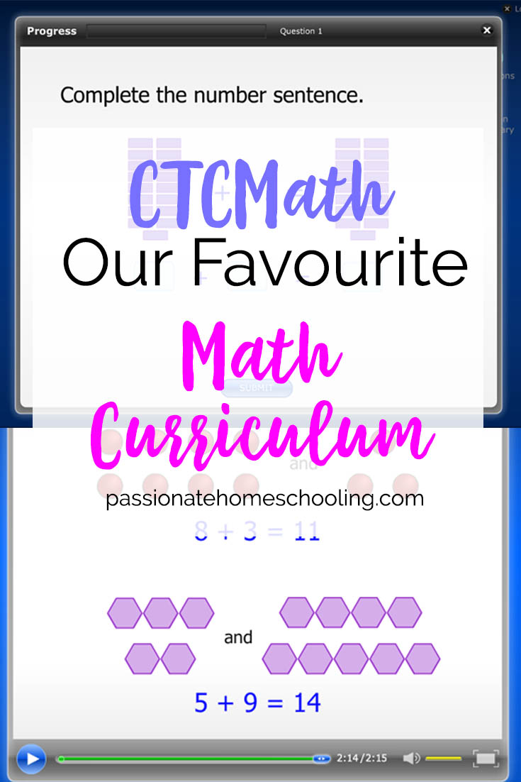 Our favourite homeschool math curriculum. I've loved using CTCMath for years to teach our kids math.
