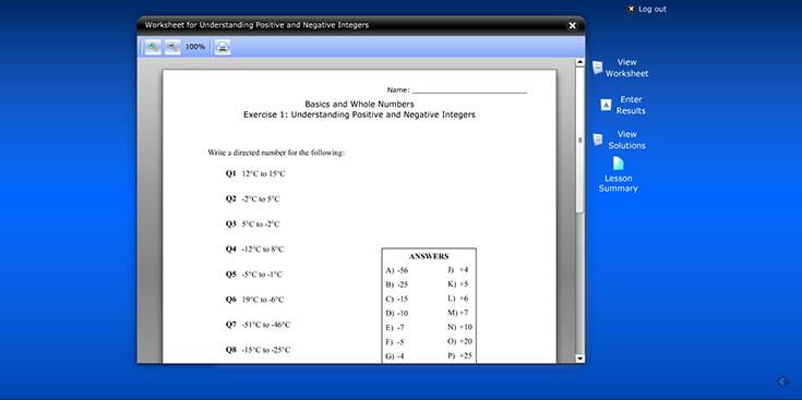 CTC Math grade 7 worksheet