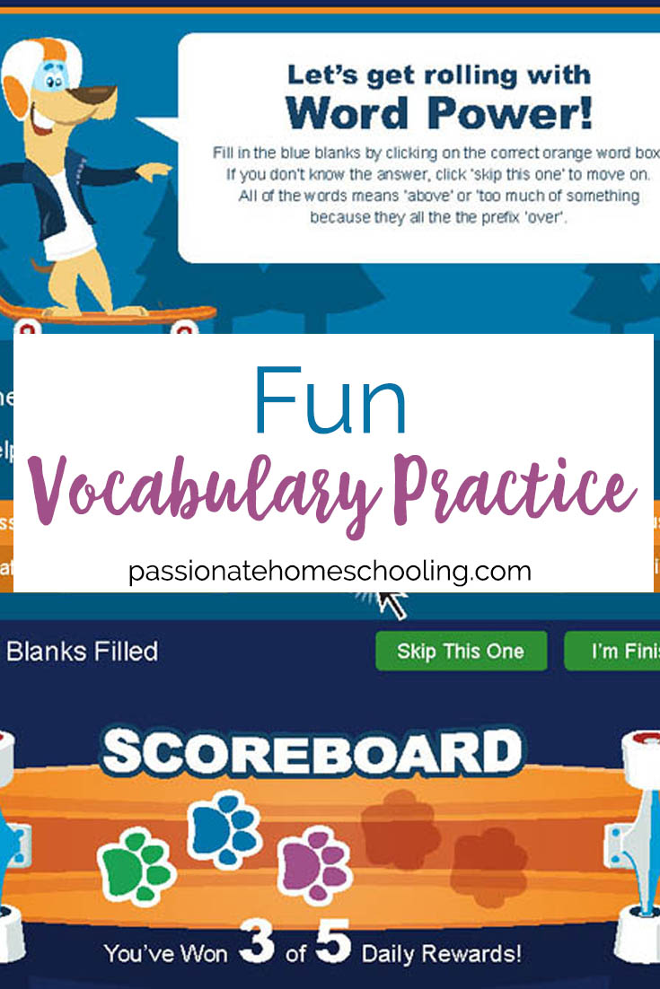 Fun Online Vocabulary Lessons For Kids. We love this easy to use, interactive vocabulary game. A great homeschool resource.