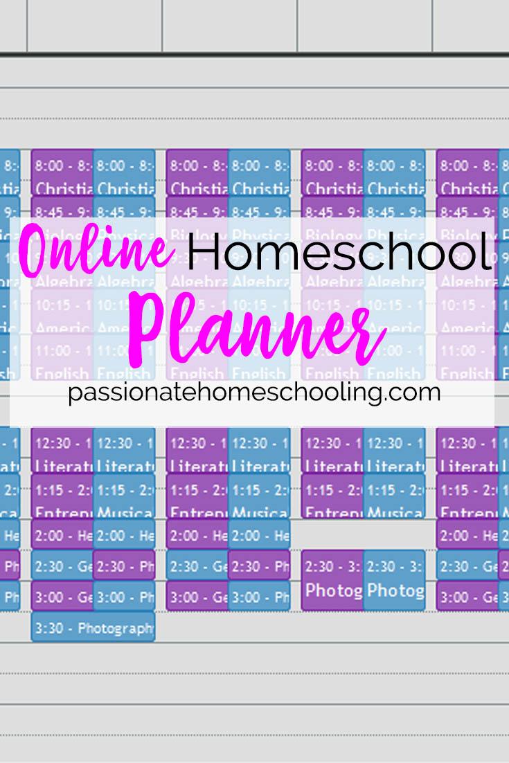 Online Homeschool Planner Lord Heritage