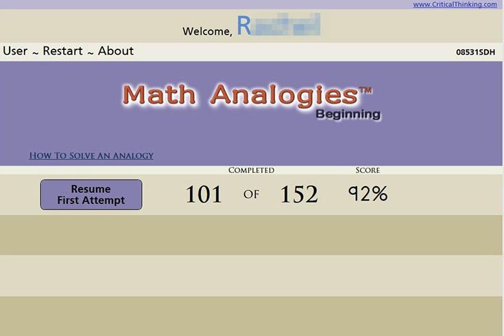 Math Analogies 1