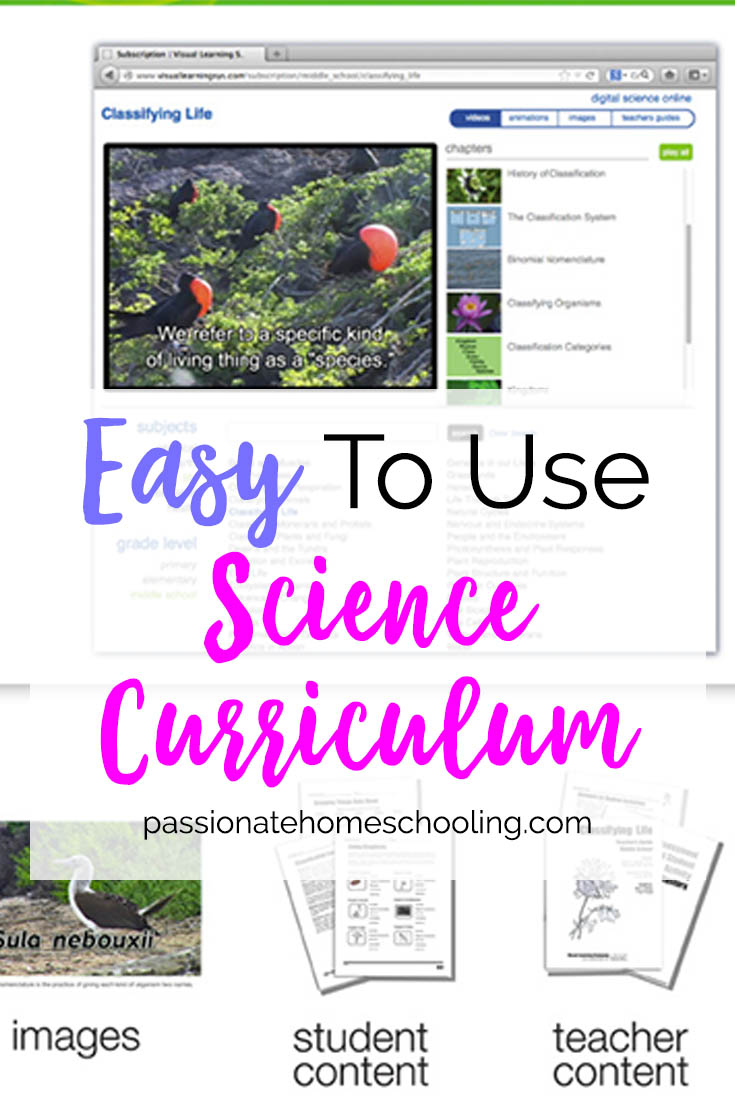 Easy Online Science Curriculum. We love using this online science curriculum. It covers grades k-12 with videos, pictures and worksheets.