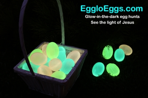 Colorful Glow In The Dark Easter Eggs
