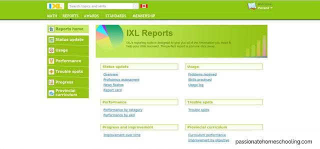 IXL Math Reports