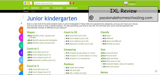 Junior Kindergarten Online Math