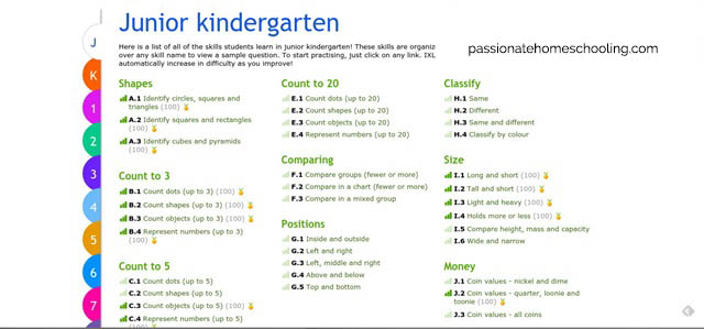 Online Junior Kindergarten Math Lessons