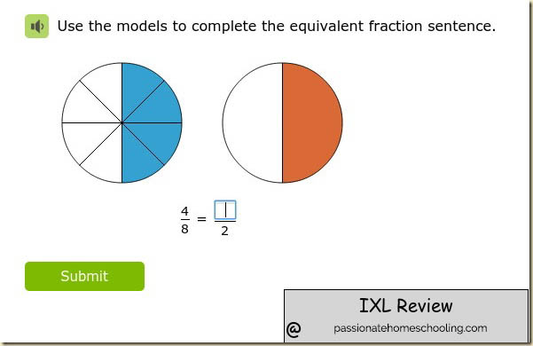 Online Fraction Lesson Grade 4