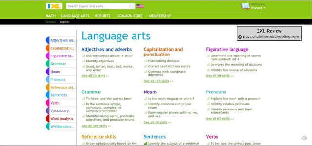 Online Language Arts Lessons
