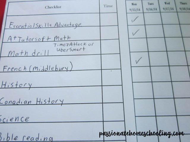 Student Planner Schedule