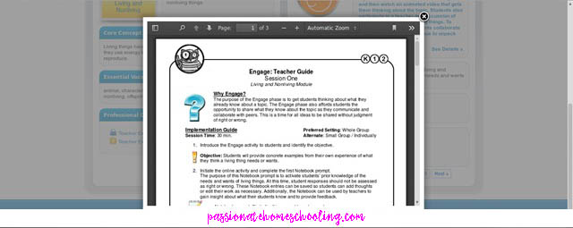 Online Science Teacher Guide