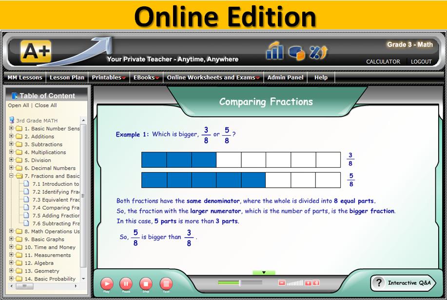3rd Grade Online Math