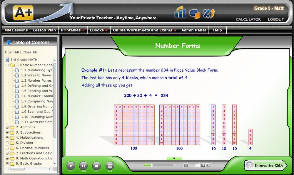 Online Math 3rd Grade