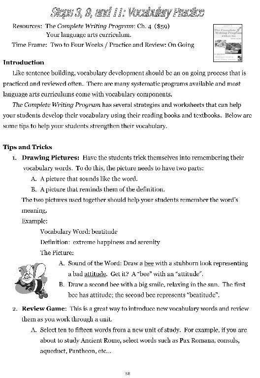 Writing Lesson Ideas