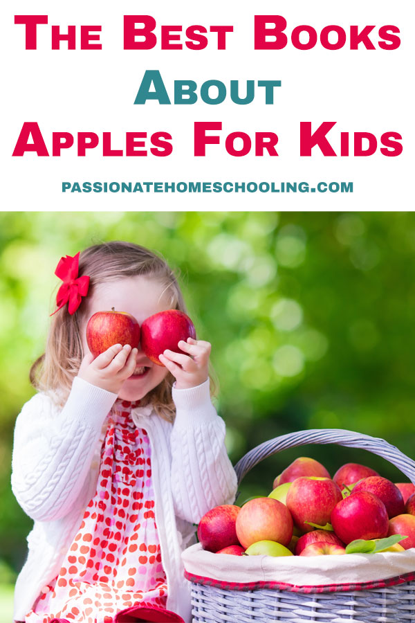 These are our favourite apple books for kids! If you are planning an apple unit study for your kids you will love these great books about apples for kids. #unitstudies #preschool #fallunitstudy #homeschooling