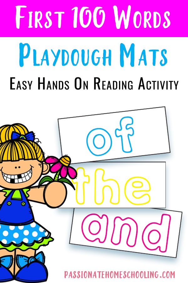 Your kids will love learning sight words with these fun sight word playdough mats! This easy activity is so much fun for young children to practice building words with hands on activities. Easy print and go playdough mats.