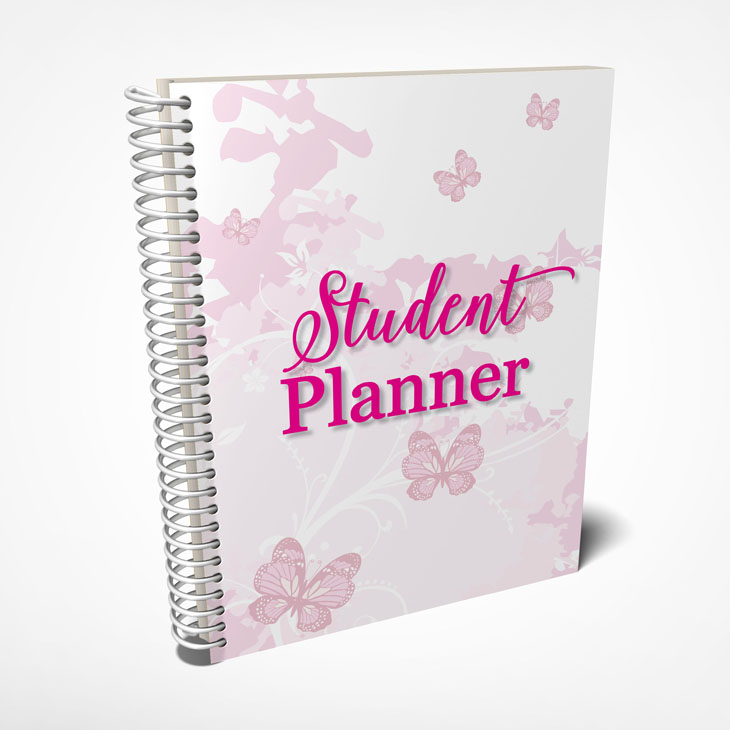 Cute student planner with pink butterflies!
