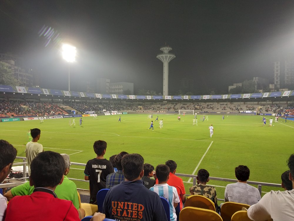 The Andheri Sports Complex (aka Mumbai Football Arena) - nice to see Cristiano making an appearance.