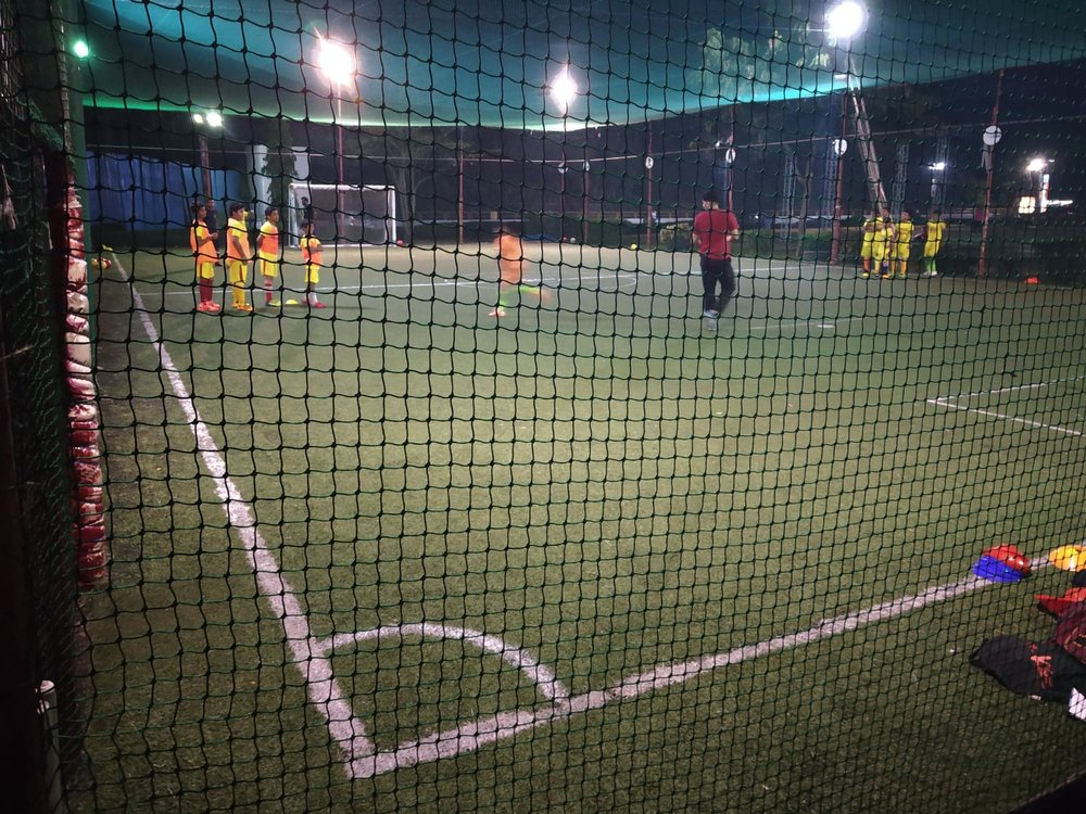 The U13 session in full flow at Forza.