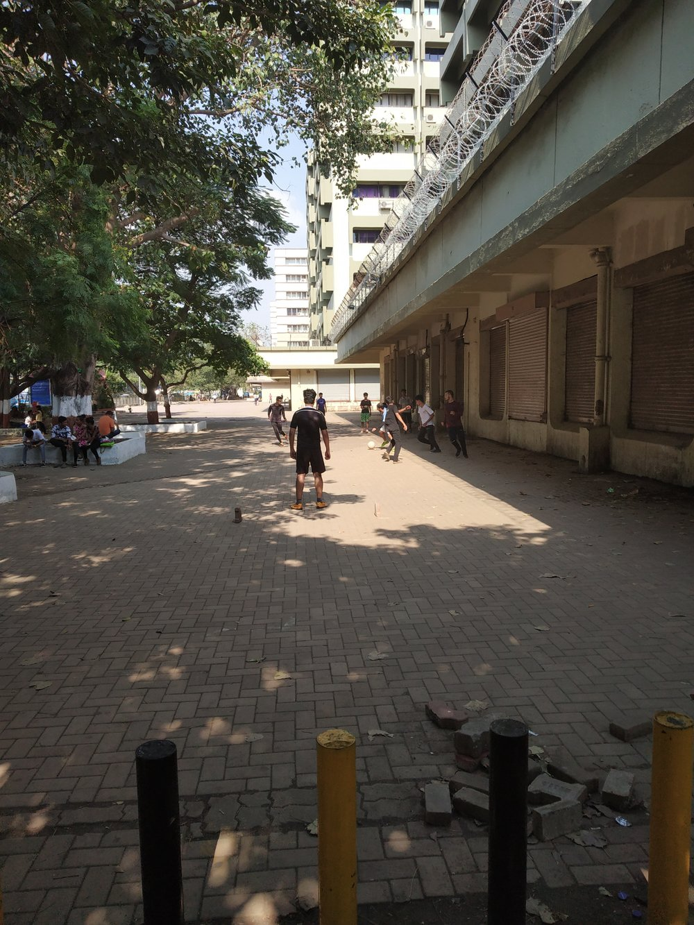 Street football in BKC.