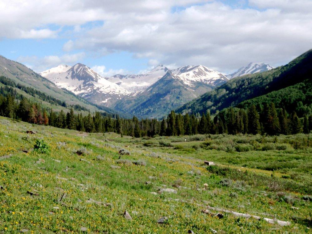 gunnison colorado mountains snow melt