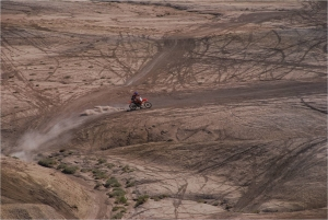 """Offroading can break up the natural soil crust–Taken from the presentation """"Utah BLM's Role in Colorado's Early Snowmelt"""" by SUWA"""