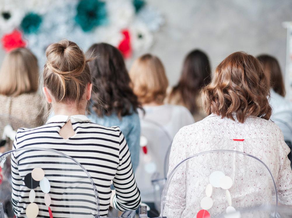 Group of women facing speaker