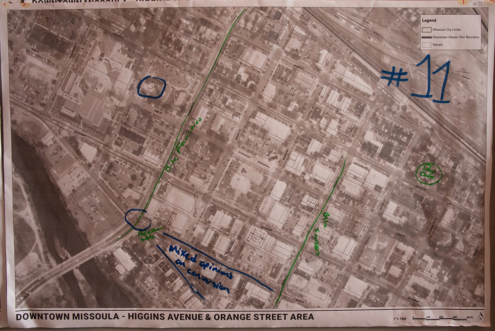 A map of Higgins Avenue & Orange Street Area