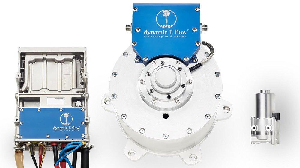 图片©动力电流有限责任公司, 采用一体化冷却帽技术®的新式电机系统