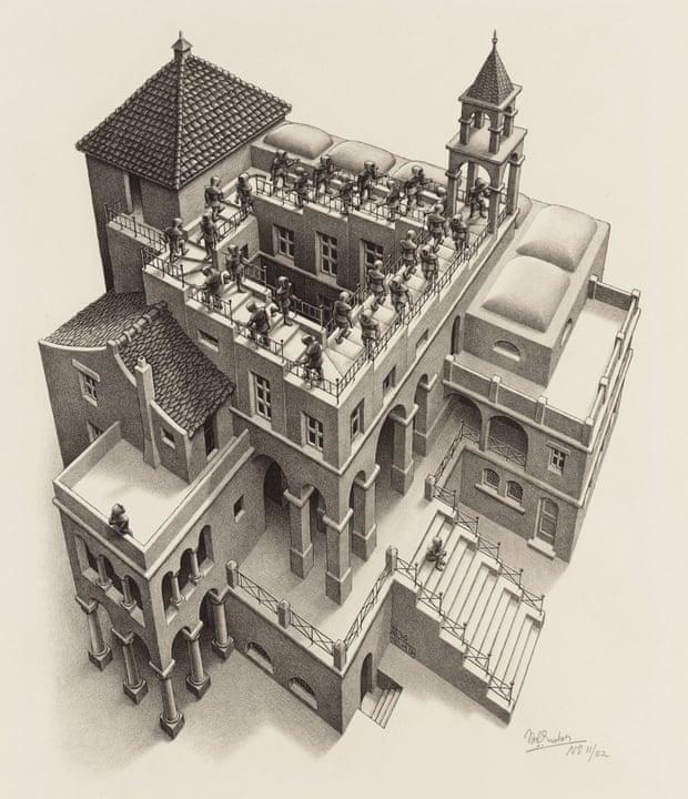 Ascending and Descending, 1960, M.C. Escher