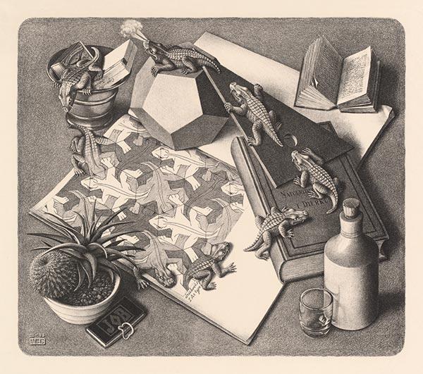 Reptiles, 1943, M.C. Escher