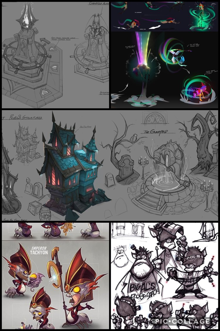 Examples of the Cartoon Concept Art Style