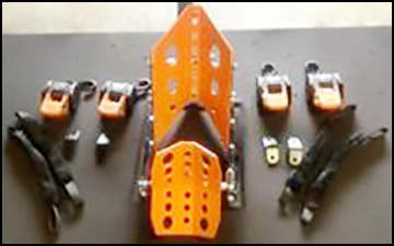 Tie-down package. Additional wheel-capture chocks are $175/ea.