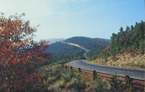 A view of the Talimena Scenic Drive in Mena, AR.
