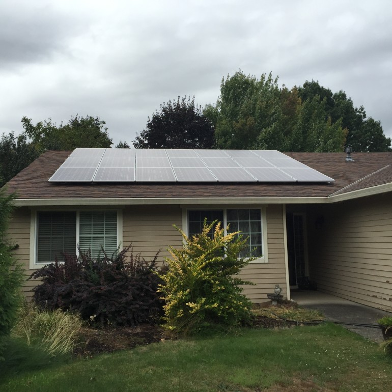10 kW system in Aloha, OR