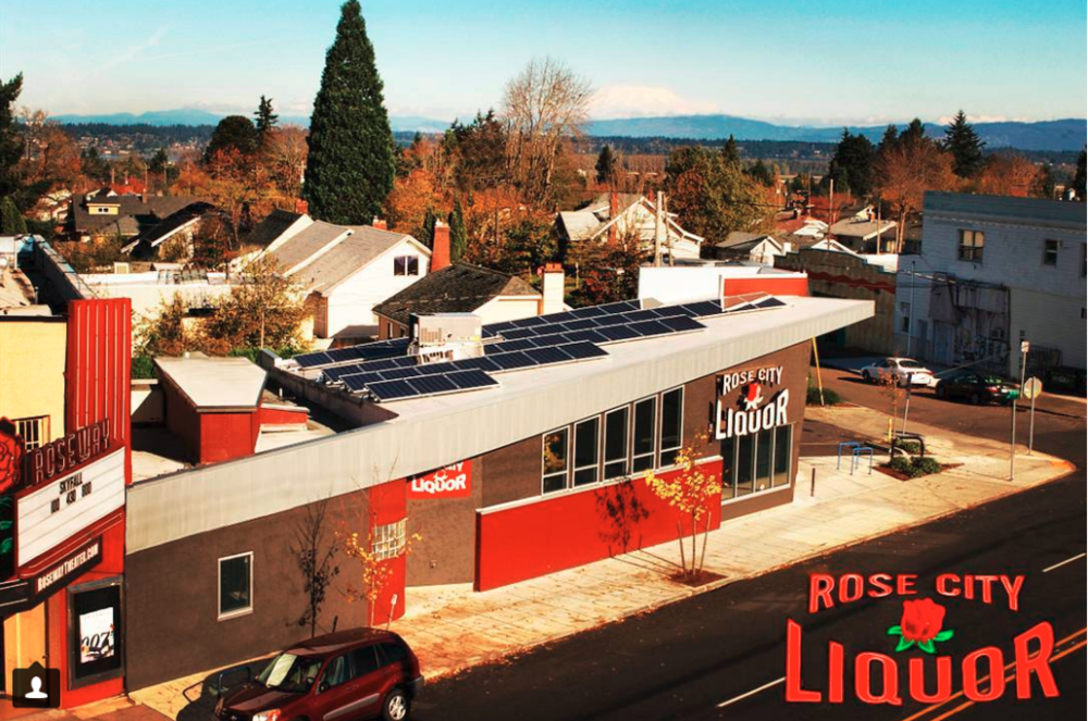 Rose City Liquor's Solar Panel Installation