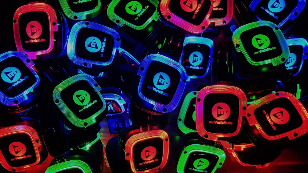 Silent Disco Headphones Lights
