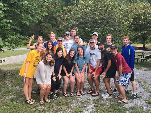 KSU + UNG took the rapids by storm on our Fall Retreat 🌊 #HootyHoo #HawkEm
