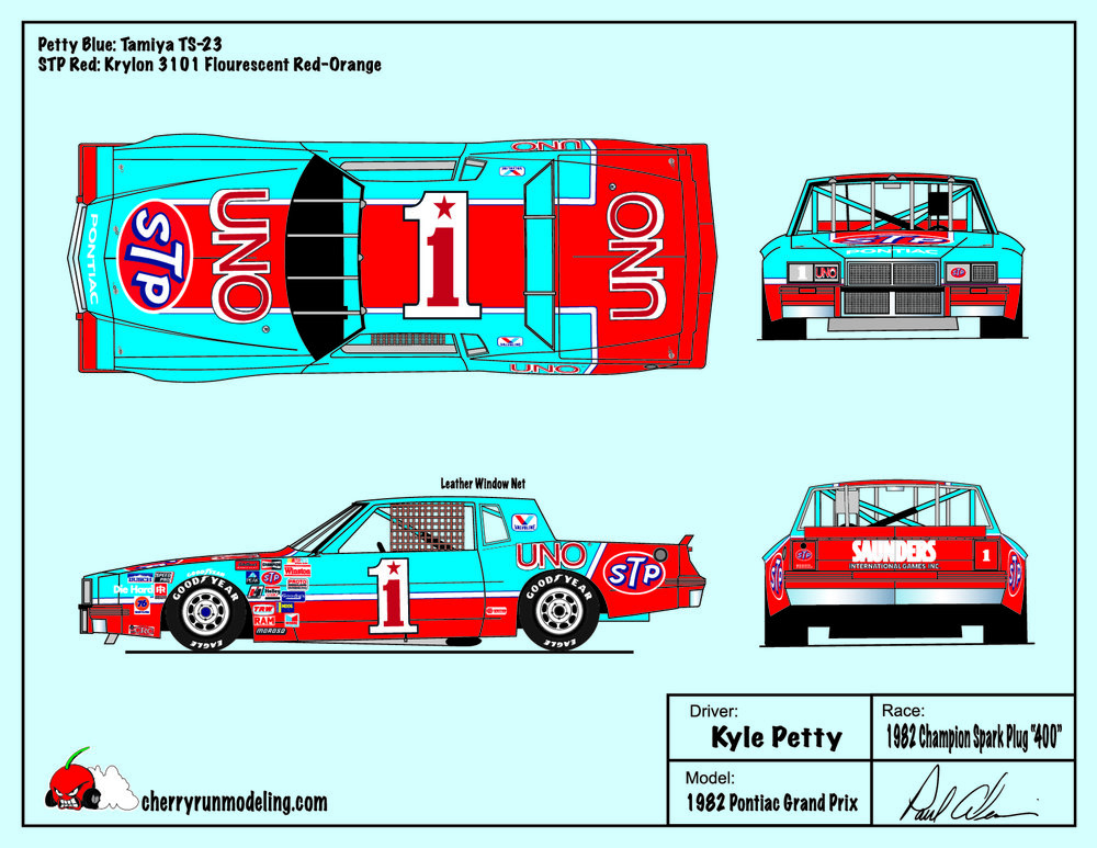 Kyle Petty 1982 Champion Spark Plug 400.jpg
