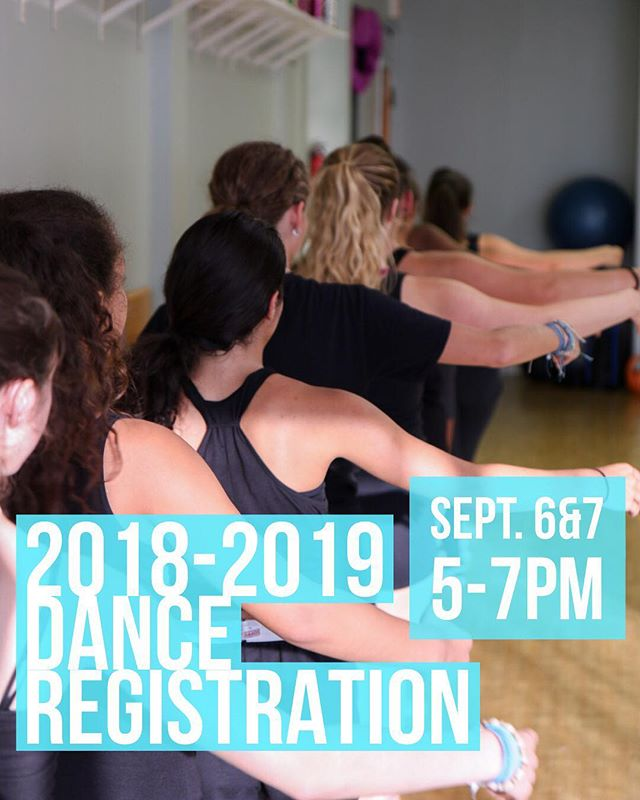 REGISTRATION/OPEN HOUSE ALERT: It's that time of year! Thursday 9/6 and Friday 9/7 from 5-7pm stop by the studio to register for classes for the 2018-2019 dance season and tour our studio! We'll see you next week! • • #dance #rcdcnation #statenislanddance #danceregistration 📷: @almostalicia