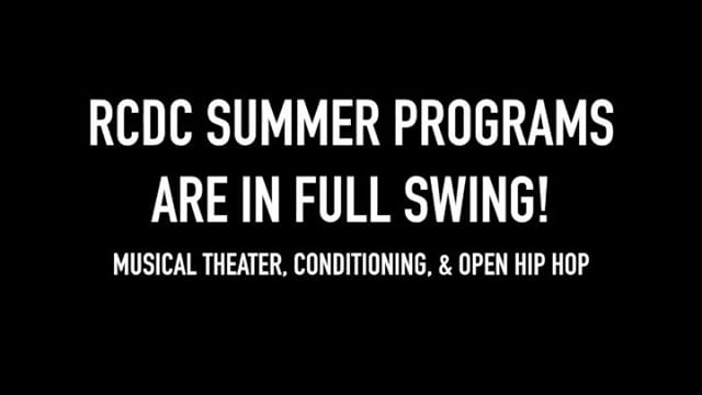 RCDC summer classes have begun! But it's not to late to sign up! *Feel free to message or call for more information* • Our Musical Theatre Intensive is Tuesdays & Thursdays from 6pm-8pm from now until August 3rd • The Skills and Drills conditioning class is on Wednesdays from 6pm-8pm from now until August 1st • Miss Kayla's Advanced Open Hip Hip class is Wedensdays 8pm-9pm (follow @kaylacruz_ for announcement!)