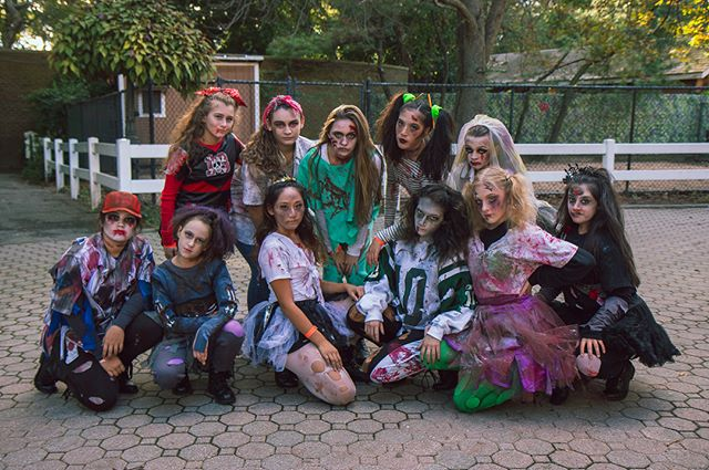 These girls had so much fun last night performing at the @statenislandzoo 's annual #spooktacular!! You can find these zombies by the carousel again tonight! Don't be afraid to say hi, they won't bite! • #halloween #zombie #dancelife